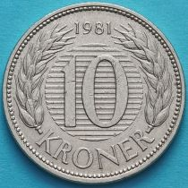 Дания 10 крон 1979-1981 год.