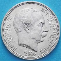 Дания 2 кроны 1912 год. Кристиан X, Фредерик VIII . Серебро.