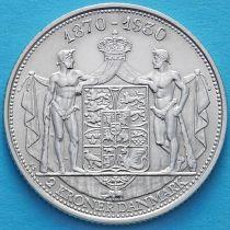 Дания 2 кроны 1930 год. Кристиан X. Серебро. №1