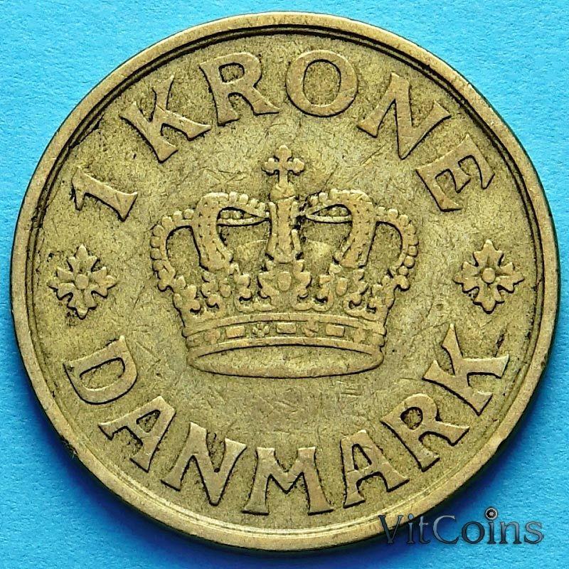 Монета Дании 1 крона 1925 год.