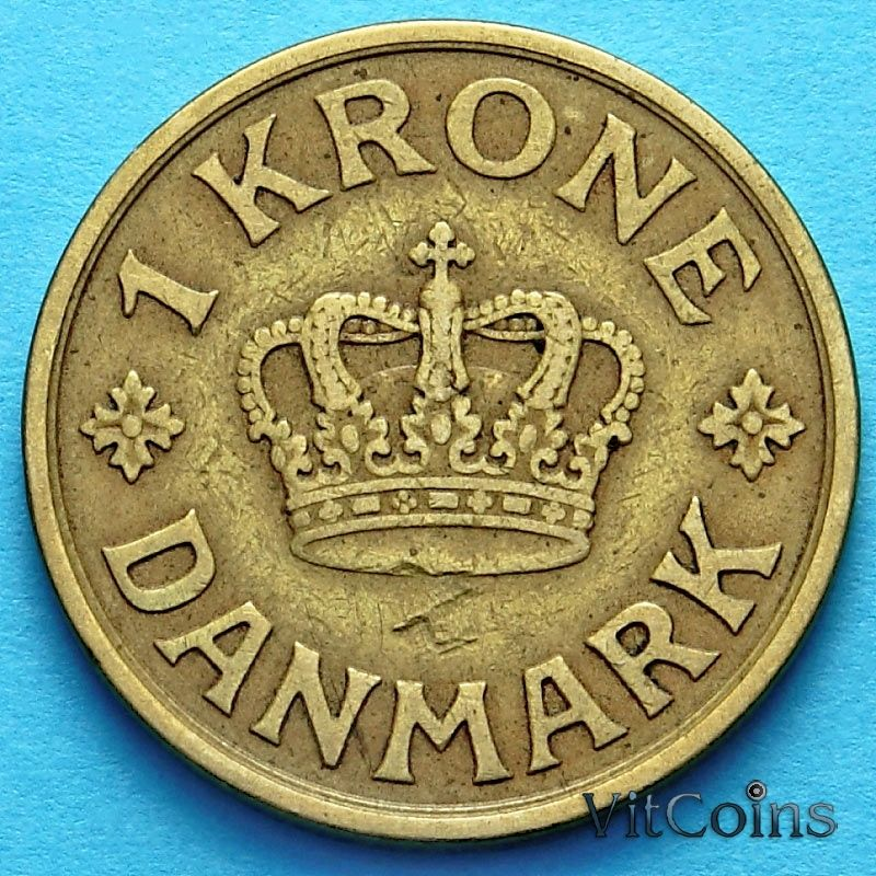 Монета Дании 1 крона 1926 год.