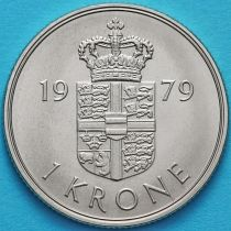 Дания 1 крона 1973-1989 год.