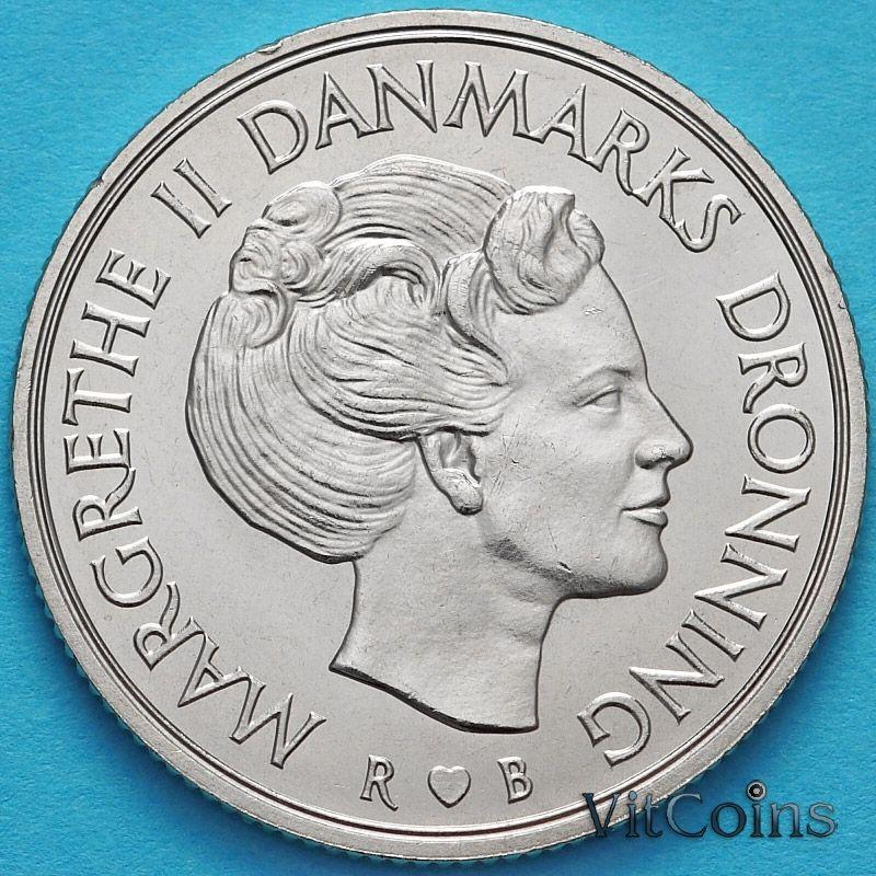 Монета Дания 1 крона 1980 год. ♥ B