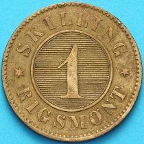Дания 1 скиллинг 1856 год. №2