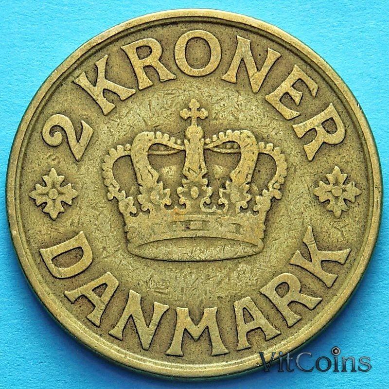 Монета Дании 2 кроны 1925 год.