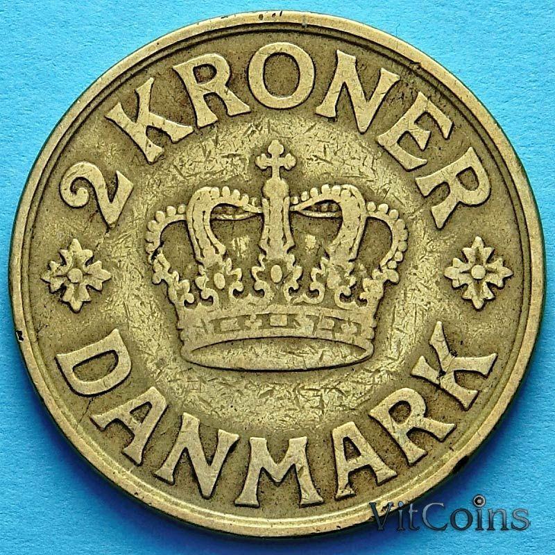 Монета Дании 2 кроны 1926 год.