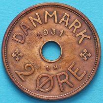 Дания 2 эре 1931-1939 год.
