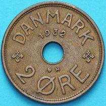 Дания 2 эре 1932 год.