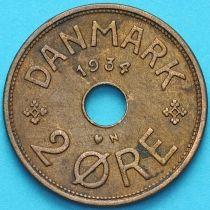 Дания 2 эре 1934 год.