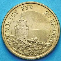 Дания 20 крон 2005 год. Маяк Нолсой.