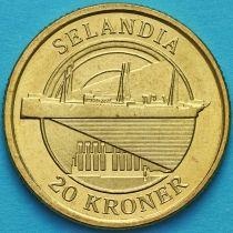Дания 20 крон 2008 год. Корабль Зеландия.