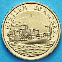 Дания 20 крон 2011 год. Пароход Хьейлен.