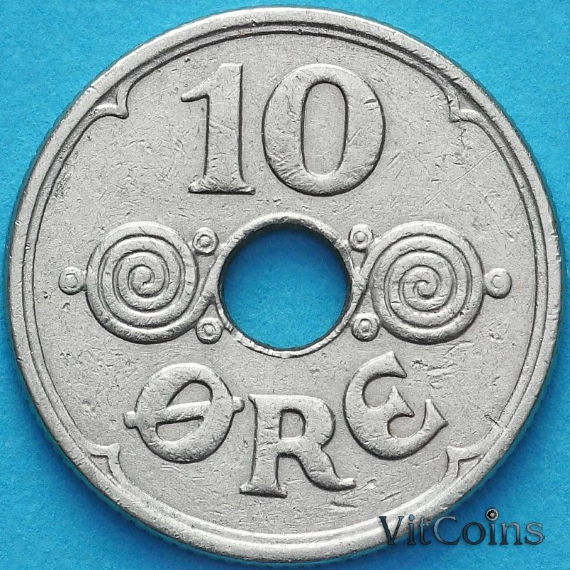 Монета Дания 10 эре 1926 год.