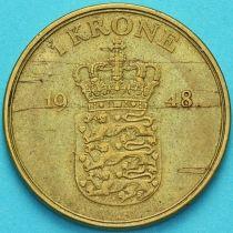 Дания 1 крона 1948 год.