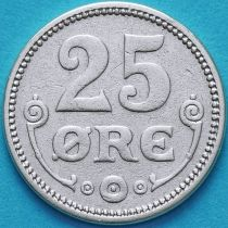 Дания 25 эре 1915 год. Серебро.