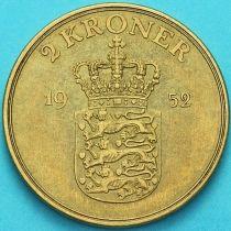 Дания 2 кроны 1952 год. Фредерик IX.