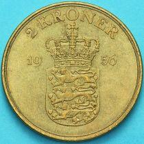 Дания 2 кроны 1956 год. Фредерик IX.