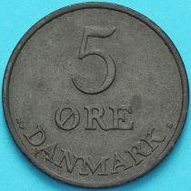 Дания 5 эре 1954 год.