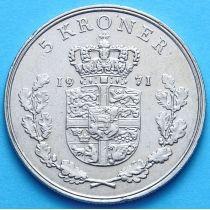 Дания 5 крон 1960-1970 год.