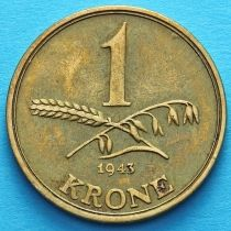 Дания 1 крона 1943 год.