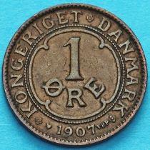 Дания 1 эре 1907 год.