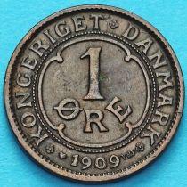 Дания 1 эре 1909 год.