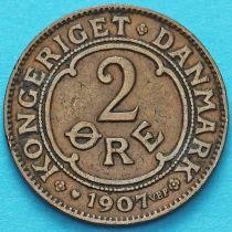 Дания 2 эре 1907 год. VBP