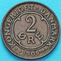 Дания 2 эре 1909 год.