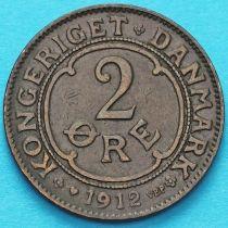Дания 2 эре 1912 год.