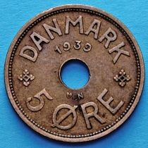 Дания 5 эре 1928-1939 год.