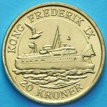 Дания 20 крон 2012 год. Паром Король Фредерик IX.