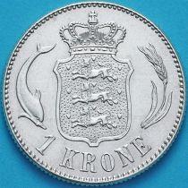 Дания 1 крона 1915 год. Серебро.