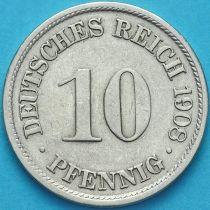 Германия 10 пфеннигов 1908 год. D.