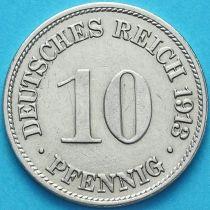 Германия 10 пфеннигов 1913 год. Е.