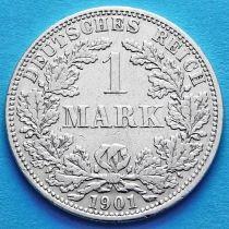 Германия 1 марка 1901 год. Серебро А.