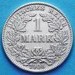 Монета Германии 1 марка 1906 год. Серебро А.