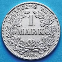 Германия 1 марка 1906 год. Серебро А.