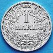 Монета Германии 1 марка 1910 год. Серебро D.