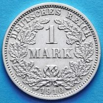 Германия 1 марка 1910 год. Серебро D.
