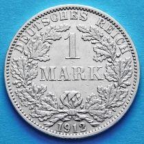 Германия 1 марка 1912 год. Серебро F.