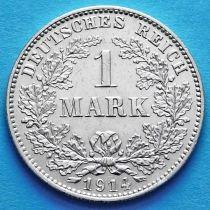Германия 1 марка 1914 год. Серебро G.