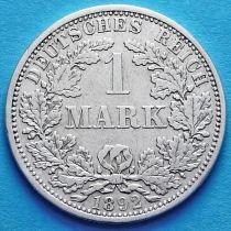 Германия 1 марка 1892 год. Серебро А.