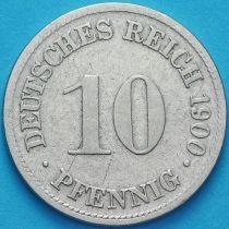 Германия 10 пфеннигов 1900 год. D.