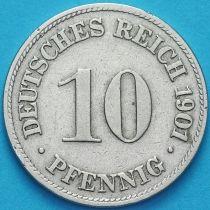 Германия 10 пфеннигов 1901 год. D.