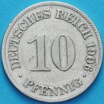 Германия 10 пфеннигов 1906 год. D.