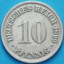 Германия 10 пфеннигов 1899 год. D.