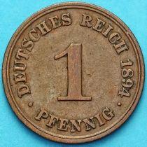 Германия 1 пфенниг 1894 год. D.
