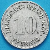 Германия 10 пфеннигов 1906 год. Е.