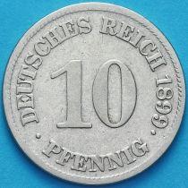 Германия 10 пфеннигов 1899 год. Е.