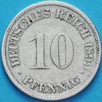 Германия 10 пфеннигов 1899 год. G.